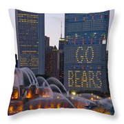 Go Bears Throw Pillow