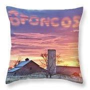 Go Broncos Colorado Country Throw Pillow