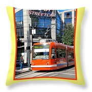 Go By Streetcar Throw Pillow