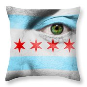Go Chicago Throw Pillow by Semmick Photo