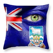 Go Falkland Islands Throw Pillow