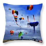 Go Fly A Kite 4 Throw Pillow