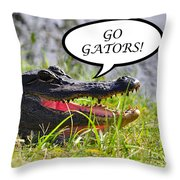 Go Gators Greeting Card Throw Pillow