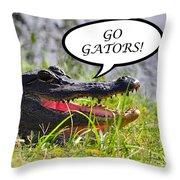 Go Gators Greeting Card Throw Pillow