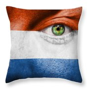 Go Holland Throw Pillow