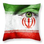 Go Iran Throw Pillow
