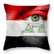Go Iraq Throw Pillow