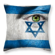Go Israel Throw Pillow