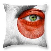 Go Japan Throw Pillow