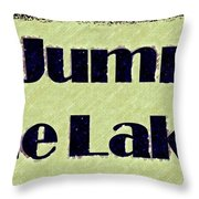 Go Jump In The Lake Throw Pillow