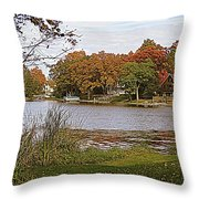 Go Live On The River Throw Pillow