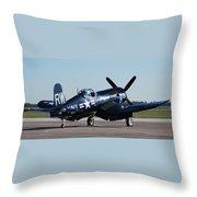 Go Navy Throw Pillow