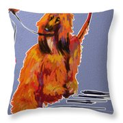 Go Red Go Throw Pillow