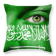 Go Saudi Arabia Throw Pillow