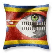 Go Swaziland Throw Pillow