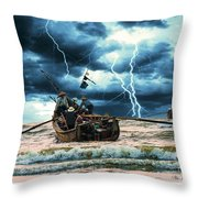 Go Though The Storm Throw Pillow