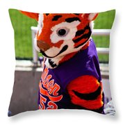 Go Tigers Fight Throw Pillow