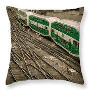 Go Train Throw Pillow