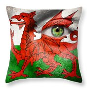 Go Wales Throw Pillow