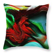 Go With The Flow Abstract Throw Pillow