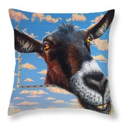 Goat A La Magritte Throw Pillow
