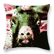 Goat Abstract Throw Pillow