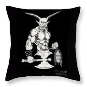 Goatlord Throw Pillow