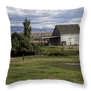 God Bless America Barn Throw Pillow