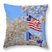 God Bless America March 2014 Throw Pillow