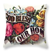 God Bless Our Home Throw Pillow