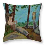 God Calls His Angels Throw Pillow