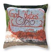 God Hates Ohio Throw Pillow