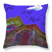 God Is My Rock Throw Pillow