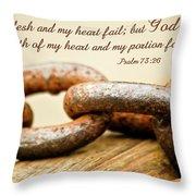 God Is My Strength Throw Pillow