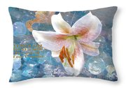 God Is Still In Control Throw Pillow by Beverly Guilliams