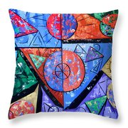 God Is There Throw Pillow by Anthony Falbo