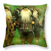 God Rest Ye Merry Gentlemen Throw Pillow