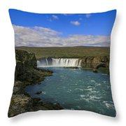 Godafoss Waterfall  Throw Pillow