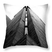 Goddard Stair Tower - Black And White Throw Pillow