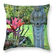Goddess Bhudevi Mother Earth Throw Pillow by Karon Melillo DeVega