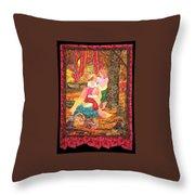 Goddess Crowning Throw Pillow