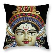 Goddess Durga Throw Pillow by Sayali Mahajan