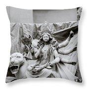 Goddess Durga Throw Pillow by Shaun Higson