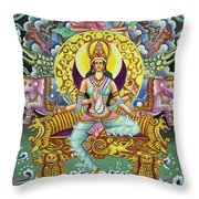 Goddess Of Asia Throw Pillow
