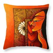 Goddess Of Creation Throw Pillow