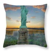 Goddess Of Freedom Throw Pillow