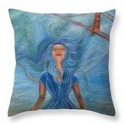 Goddess Of Golden Gate Brigde Throw Pillow