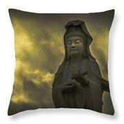 Goddess Of Mercy Throw Pillow