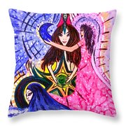 Goddess Trinity Throw Pillow