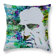 Godfather Watercolor Throw Pillow